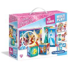 Puzzle Cubi 12 pezzi Principesse Disney