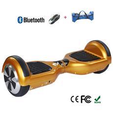 6.5 Pollici Hoverboard Smart Balance Monopattino Elettrico Pedana Scooter Due Ruote Bluetooth Con Batteria Samsung Gold
