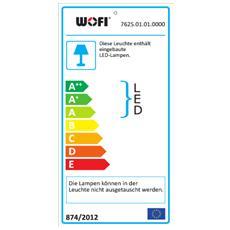 VANNES Supporto rigido 34W LED Cromo, Bianco A, A+, A++ lampada a sospensione