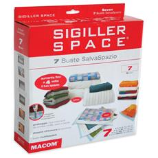 Sigiller Space Seven - 6 Buste Salvaspazio L XL XXL e 1 Busta Travel