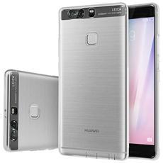 Custodia Cover Back Case Ultra Sottile In Morbida Gomma Tpu Trasparente Per Huawei Ascend P9 Plus P9+ + Pellicola Protettiva + Pannetto Pulisci Schermo