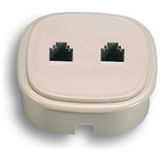 22380 - Presa 2 Plug 6/4c. Da Incasso