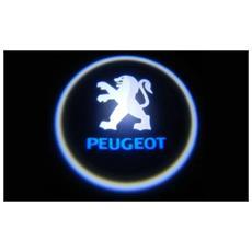 Proiettori Con Led Per Auto Con Il Logo Peugeot