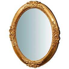 Specchiera Da Parete Verticale / orizzontale In Legno Finitura Foglia Oro Anticato Made In Italy L51xpr2,5xh41 Cm