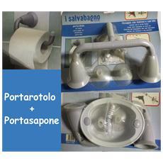 Porta Rotolo Porta Carta Igienica E Porta Sapone Con Ventose E Viti Comprese