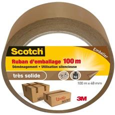 Nastro Da Imballo Scotch Ritagliabile A Mano Marrone 100 m X 48 mm