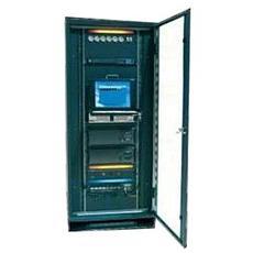 Armadio Server a Pavimento Linea Quadra 33 Unità porta in Vetro Colore Grigio Chiaro