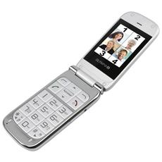 "Becco Plus Senior Phone Dual Sim Display 2.4"" Micro SD Bluetooth con Tasti Grandi + SOS Fotocamera Colore Argento"