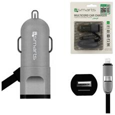 Caricabatterie MultiCord Car Charger Nero