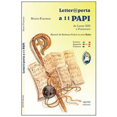 Letter@ perta a 11 papi. Da Leone XIII a Francesco