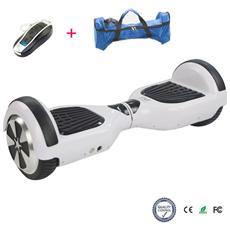 6.5 Pollici Hoverboard Smart Balance Monopattino Elettrico Pedana Scooter Due Ruote Bianca
