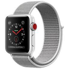 Watch Serie 3 con GPS + Cellular cassa da 38 mm in Alluminio e cinturino Sport Loop colore Argento