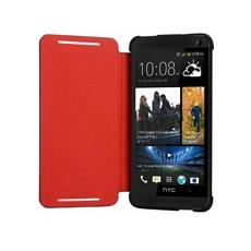 Flip cover red + black con stand orig htc one mini