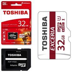 Scheda Exceria microSD 32GB con adattatore SD