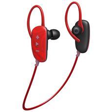 Cuffia Bluetooth con Microfono senza Filo Fusion Buds Colore Rosso