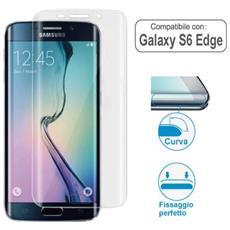Pellicola Trasparente Curva Per Samsung Galaxy S6 Edge