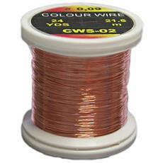 Filo Di Rame Colour Wire 0.18 Unica Arancio