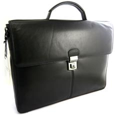 sacchetto di affari, borsa in pelle di computer nero (speciale calcolatore 15) - [ n2643]