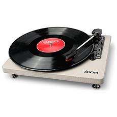 Compact LP Belt-drive audio turntable Grigio