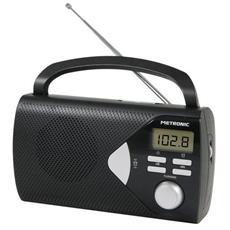 Radio Portatile Satinata Antenna Telescopica Funzione Allarme Nero