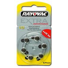 Batterie acustica Rayovac 10, senza mercurio