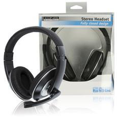 CMP-HEADSET130 Stereofonico Padiglione auricolare Nero, Argento cuffia e auricolare