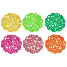 Set 6 Pezzi Sottopiatti Pasqua Uova Ovetti Tessuto Sotto Piatti Piatto Tovaglia Tonda Tovaglietta Decorazioni Colore Casuale