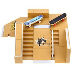 5x Kit Skate Park Parti Rampa Per Tech Deck Finger Board Ultimate Sport Formazione Puntelli