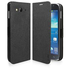 TEBOOKSAGRNEK SMARTPHONE Custodia a libro in ecopelle per Samsung Galaxy Grand NEO / Grand Neo Plus, colore nero