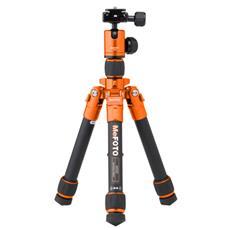 Treppiede con Testa a Sfera Altezza Max 61 cm Arancione e Nero A0320Q00C-EU