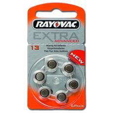 Batterie acustica Rayovac 13, senza mercurio