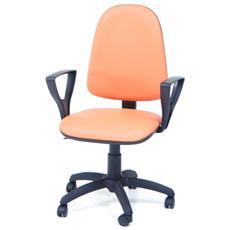 Poltrona operativa da ufficio studio arancio