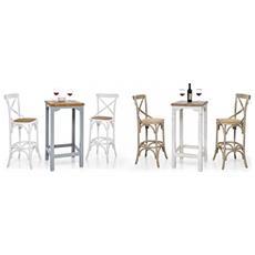 Tavolino Da Bar In Legno L55x55x105h