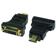 HDMI to DVI Adapter HDMI 19-pin female DVI-D (24+1) male Nero cavo di interfaccia e adattatore