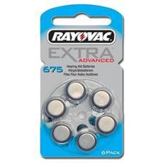 Batterie acustica Rayovac 675, senza mercurio