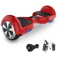 6.5 Pollici Hoverboard Smart Balance Monopattino Elettrico Pedana Scooter Due Ruote Rosso