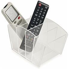 Acrilico Porta Telecomando, Acrilico, Trasparente, 18x15x9 Cm