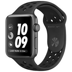 Watch Nike+ da 42 mm GPS Cassa in alluminio grigio siderale con cinturino Nike Sport Antracite / Nero