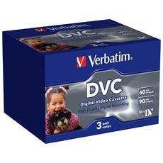 Digital Videocassette Verbatim 47651 - MiniDV - 1 Ora