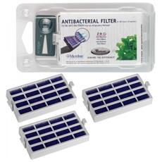 3 Filtri Antibatterico Microban Filtro Aria Per Frigorigero + Timestrip - 481248048172