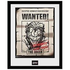 Comic - Joker Wanted (stampa In Cornice 30x40 Cm)