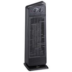 Design esclusivo. Aigostar Airwin Black 33IEL 2000 Watt con protenzione anti-surriscaldamento TermoVentilatore con Termostato Regolabile Funzione Doppia Aria Calda e Fredda