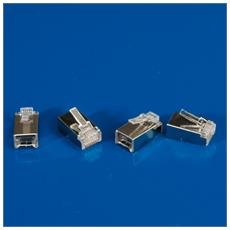 Cat. 6 Modular Plug, shielded, for Stranded Wire 10 pcs. Trasparente cavo di interfaccia e adattatore