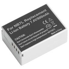 1050mAh Li-Ion, Ioni di litio, Fotocamera, Nero, Bianco, Canon NB-7L, Canon Powershot SX30 IS, G10, G12