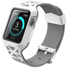 Apple Watch Case, I-blason [ unity Serie] Guscio Protettivo / Custodia Protettiva Robusta Con Cinturino Per Apple Watch / Cinturino Per Lo Sport / Edizione 2015 Per Orologio (bianco, 42 Mm)