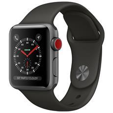 Watch Serie 3 con GPS + Cellular cassa da 38 mm in Alluminio e cinturino Sport colore Grigio