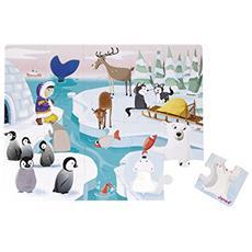 J02773 La Vita sul Ghiaccio - Puzzle 20 Pezzi Tattile