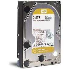 "Hard Disk Interno WD GOLD 2 TB 3.5"" Sata III 6GB / s Buffer 64 MB 7.200 Rpm"