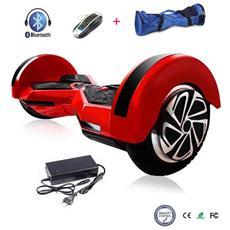 8 Pollici Hoverboard Smart Balance Monopattino Elettrico Pedana Scooter Con Bluetooth Due Ruote Con Batteria Samsung Rosso&nero