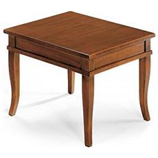 Tavolino Bacheca Piano Legno 60x60x45h